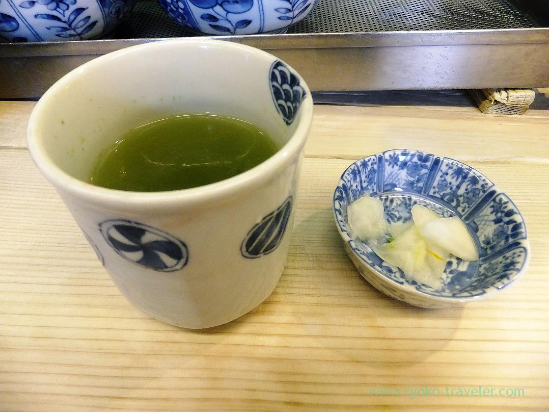 Green tea and pickled vegetables, Segawa (Tsukiji)