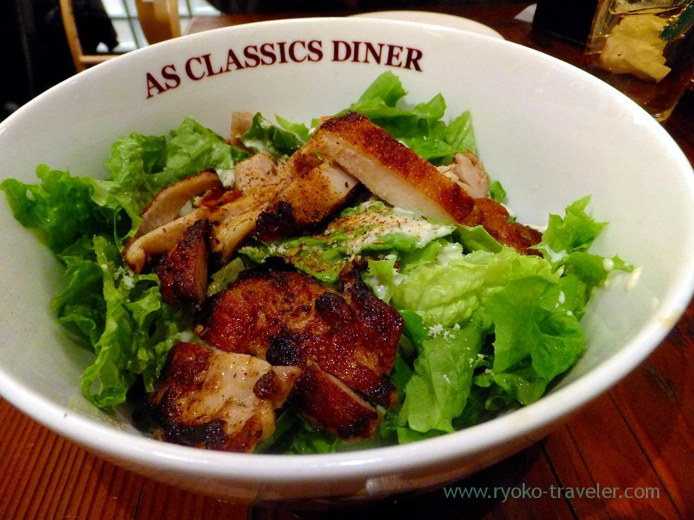 Grilled chicken salads, As Classics Diner Roppongi Hills branch (Roppongi)