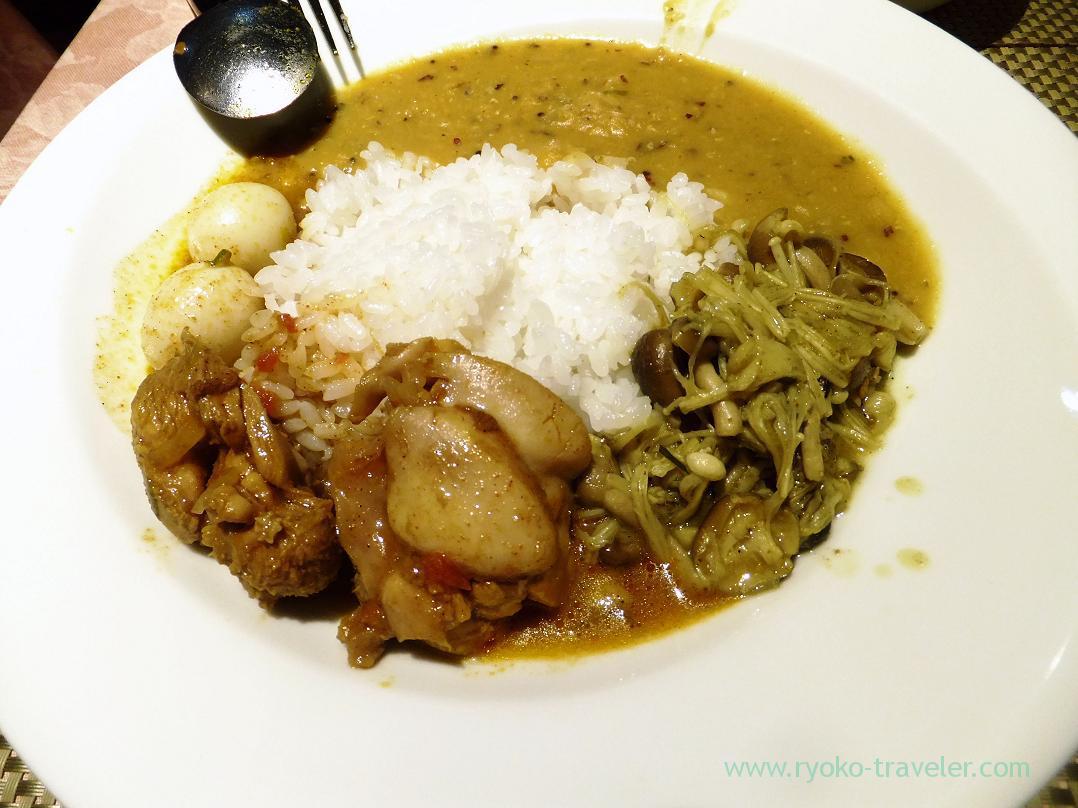 My plate, Dilani-san's Sri Lanka curry (Monzen-nakacho)