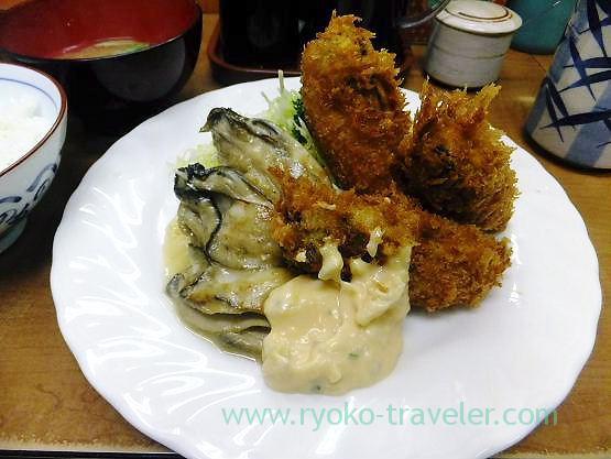 Oyster set, Odayasu (Tsukiji Market)