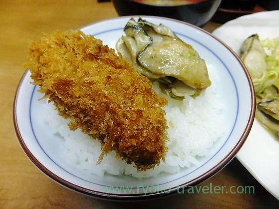 Oysters on the rice, Odayasu (Tsukiji)
