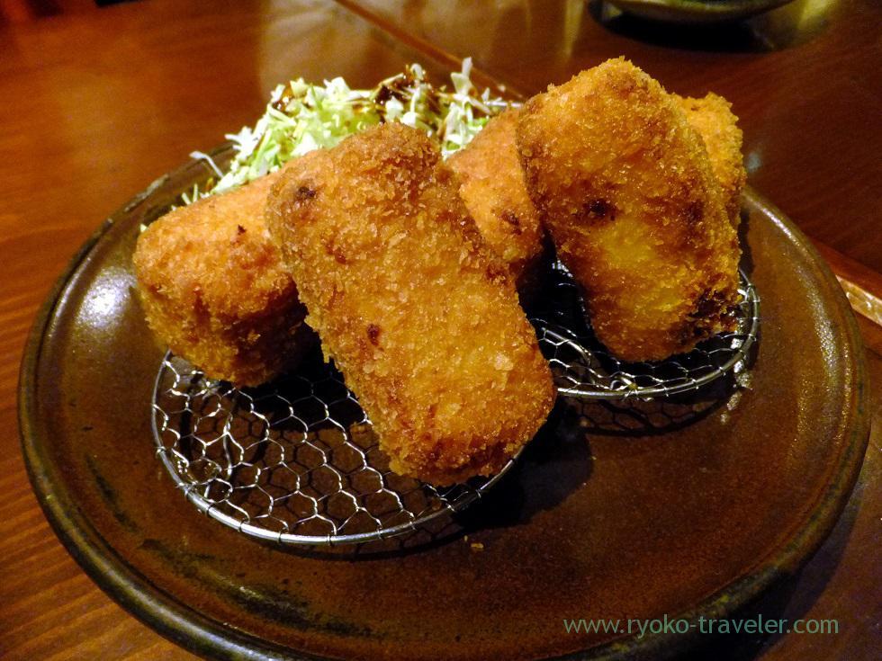 Scallop cream croquette, Yamadaya (Tsukiji)