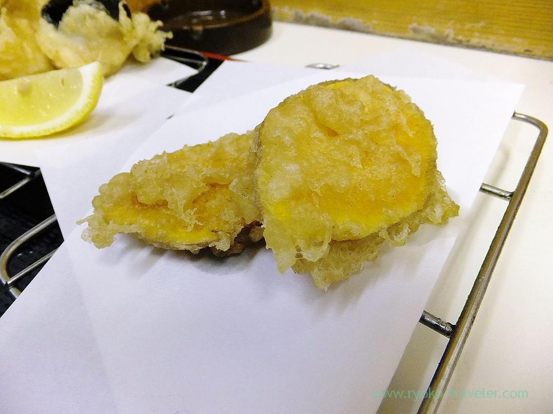Sweet potato tempura, Tenfusa (Tsukiji Market)