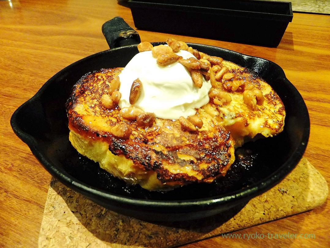 French toast with honey and cheese, Mijinko (Ochanomizu)