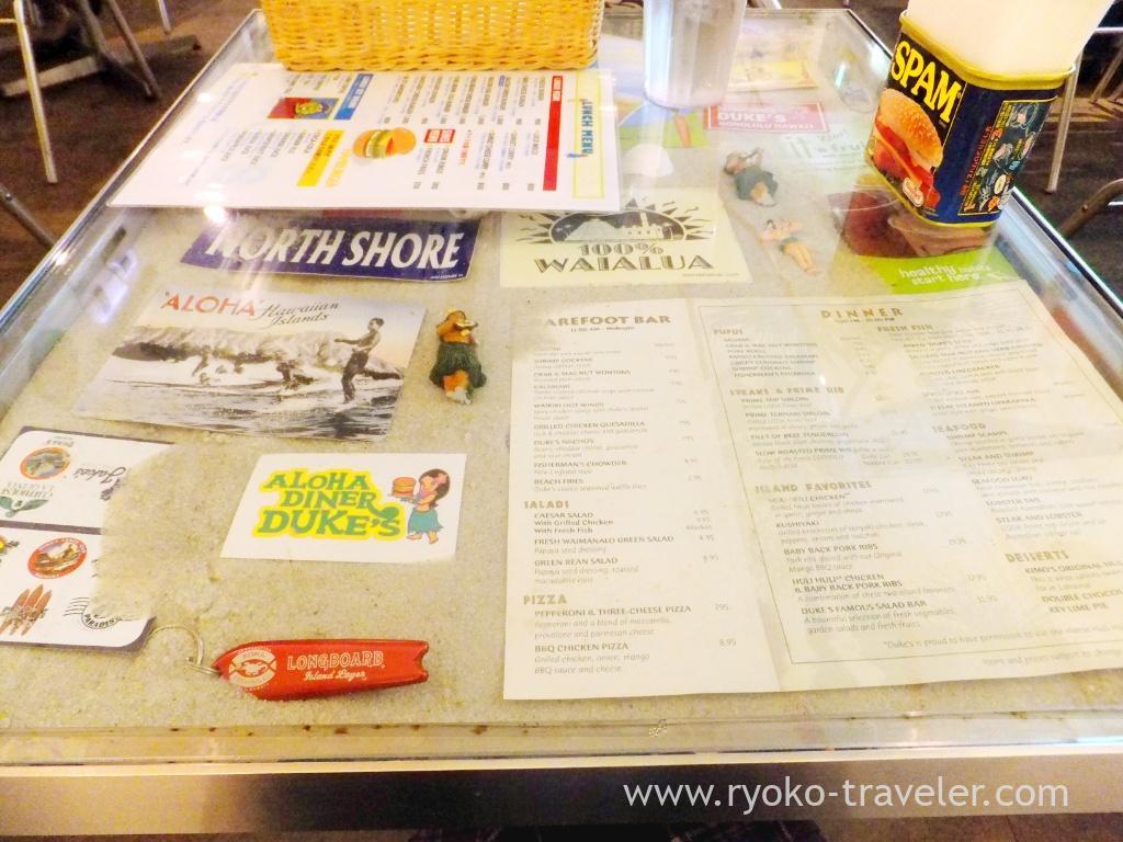 On the table, Aloha diner dukes (Funabashi)