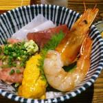 Kachidoki : Soba and sashimi bowl set at Ginsoba Kunisada (銀蕎麦 國定)