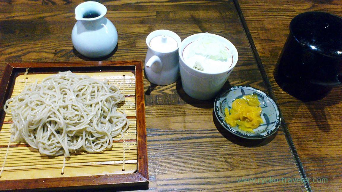 Soba set, Kunisada (Kachidoki)