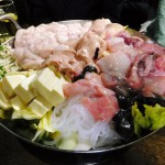 Hirai : Soft roe, monkfish liver gathering in a hotpot (豊田屋)