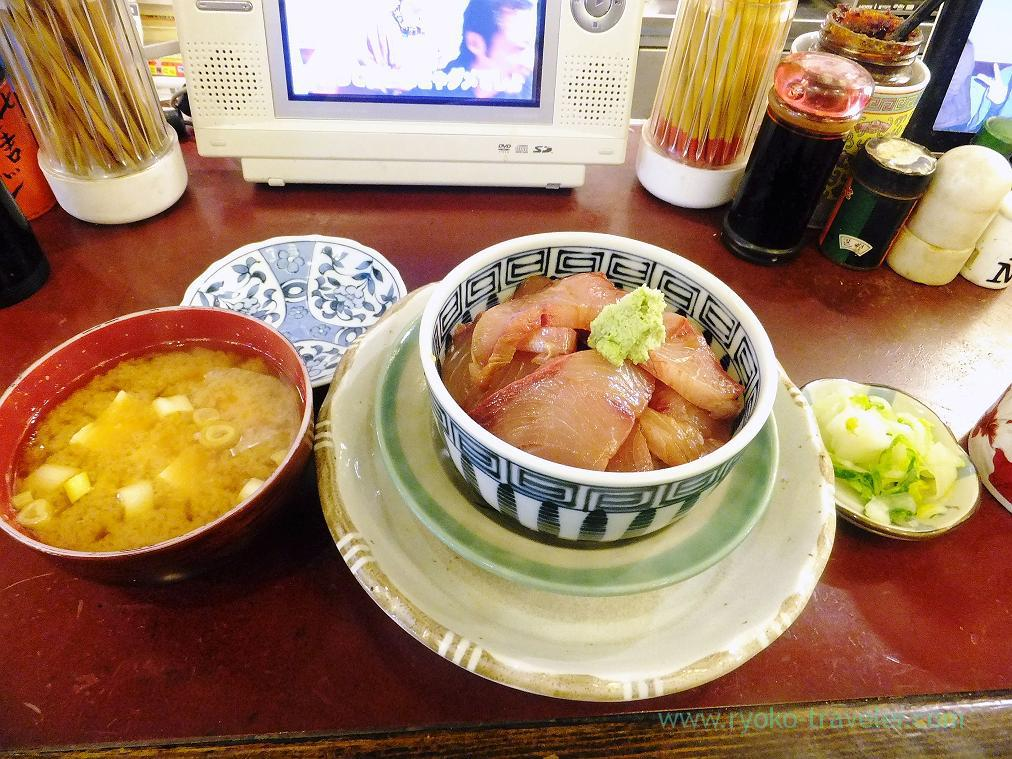 Winter yellowtail bowl set, Yonehana (Tsukiji Market)