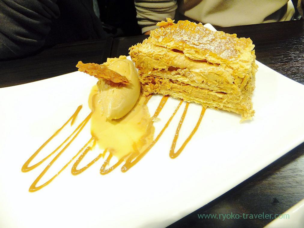 walnut and caramel mille-feuille with caramel ice cream, Ore-no-French Ningyocho (Ningyocho)