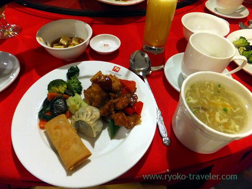 Chinese dishes, Dinner (Siem Reap2014, Cambodia)
