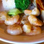 Kachidoki : Garlic shrimp lunch at Wine-bar Tera Humuhumunukunukuapua'a (ワインバーテラ フムフムヌクヌクアプアア)