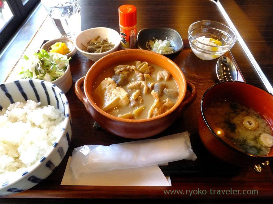 Gut stew set, Gohan Cafe Kasuga (Kachidoki)