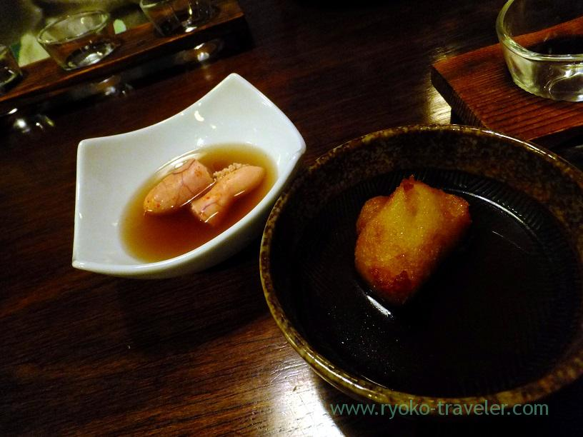 Japanese yam and mentaiko oden, Kingyoya (Funabashi)
