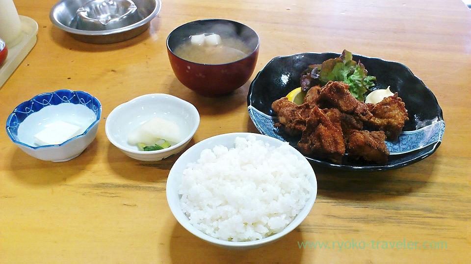 Karaage set, Sake-dokoro Nakamurara (Kachidoki)
