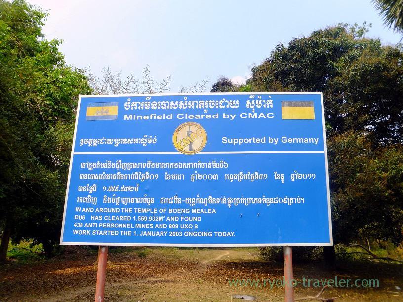 Minefield cleared, Beng Mealea1(Siem Reap2014)