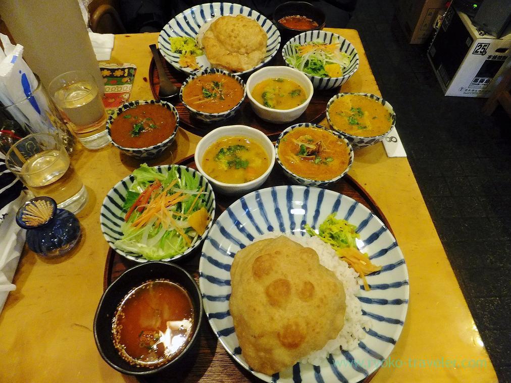 Our last Fukagawa Indian Lunch, Jyogame (Morishita)