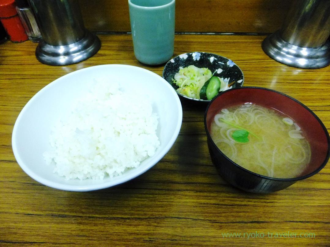 Rice and miso soup, Tonkatsu Yachiyo (Tsukiji Market)