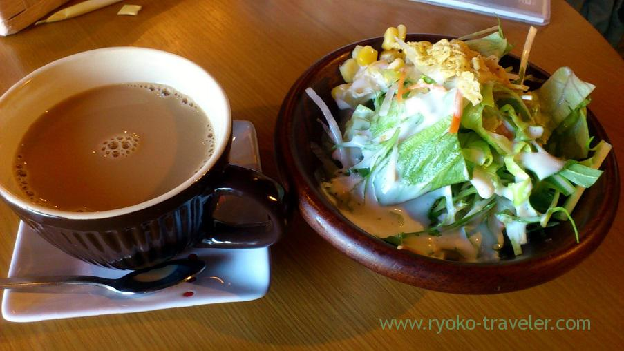 Salad and drink, Wine-Bar Humuhumunukunukuapua'a (Kachidoki)