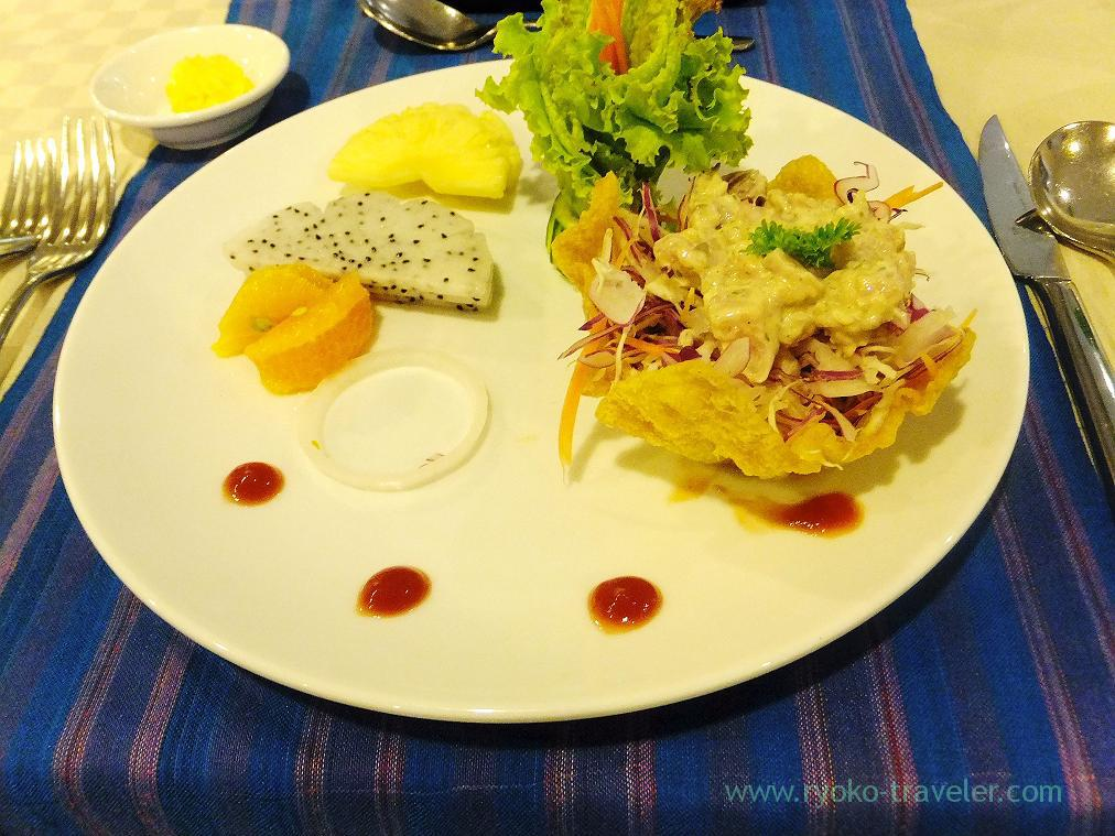 Appetizer as Lunch, Angkor Miracle Resort & spa(Siem Reap2014)