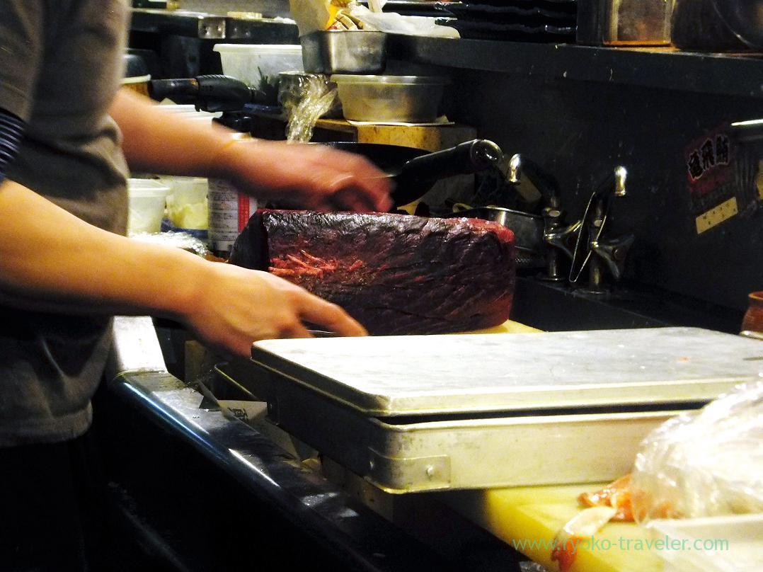 Chef's hands, Kashigashira (Tsukiji)