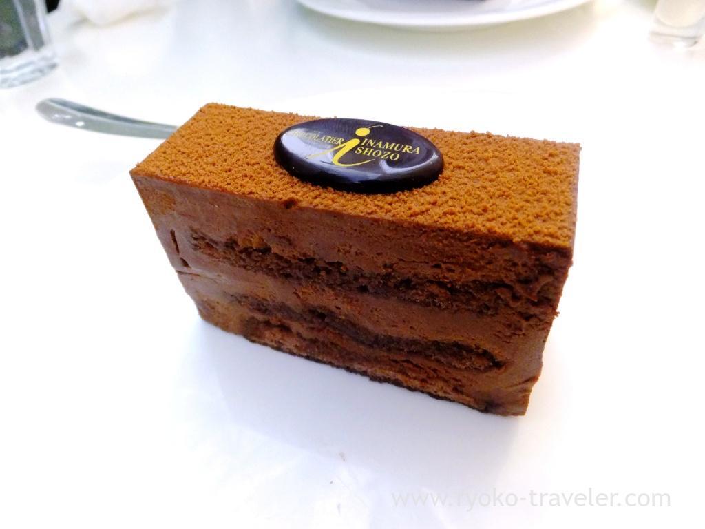 Chocolate cake, Chocolatier Inamura Shozo (Nippori)