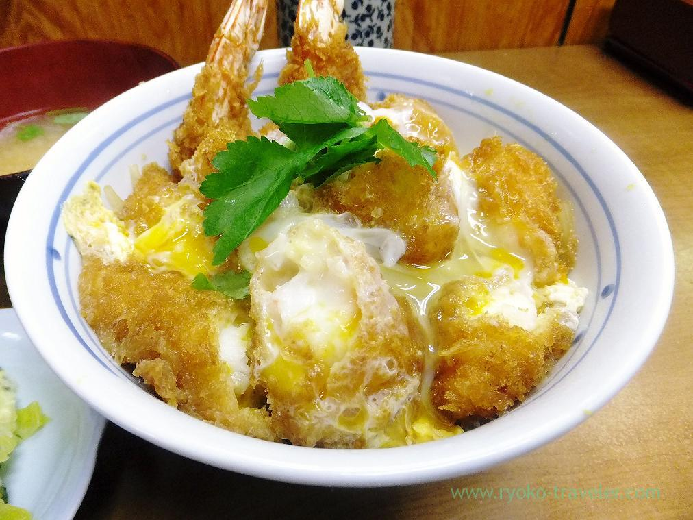 Deep fried shrimps bowl, Odayasu (Tsukiji Market)