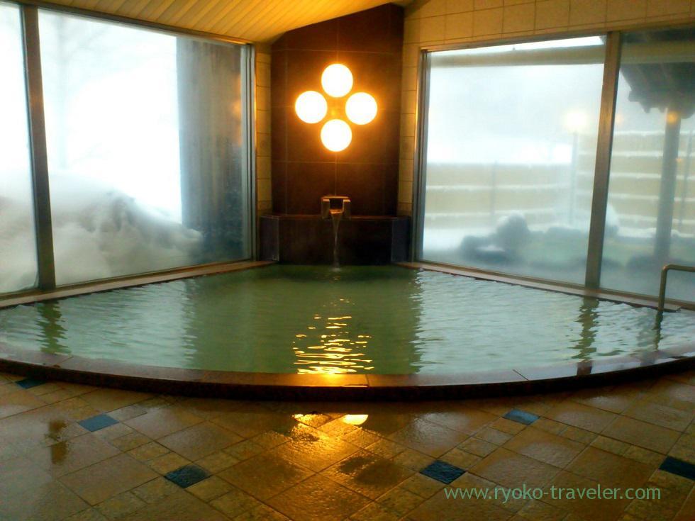 Indoor bath, Nodi onsen hotel,trip to Nodi onsen 2014