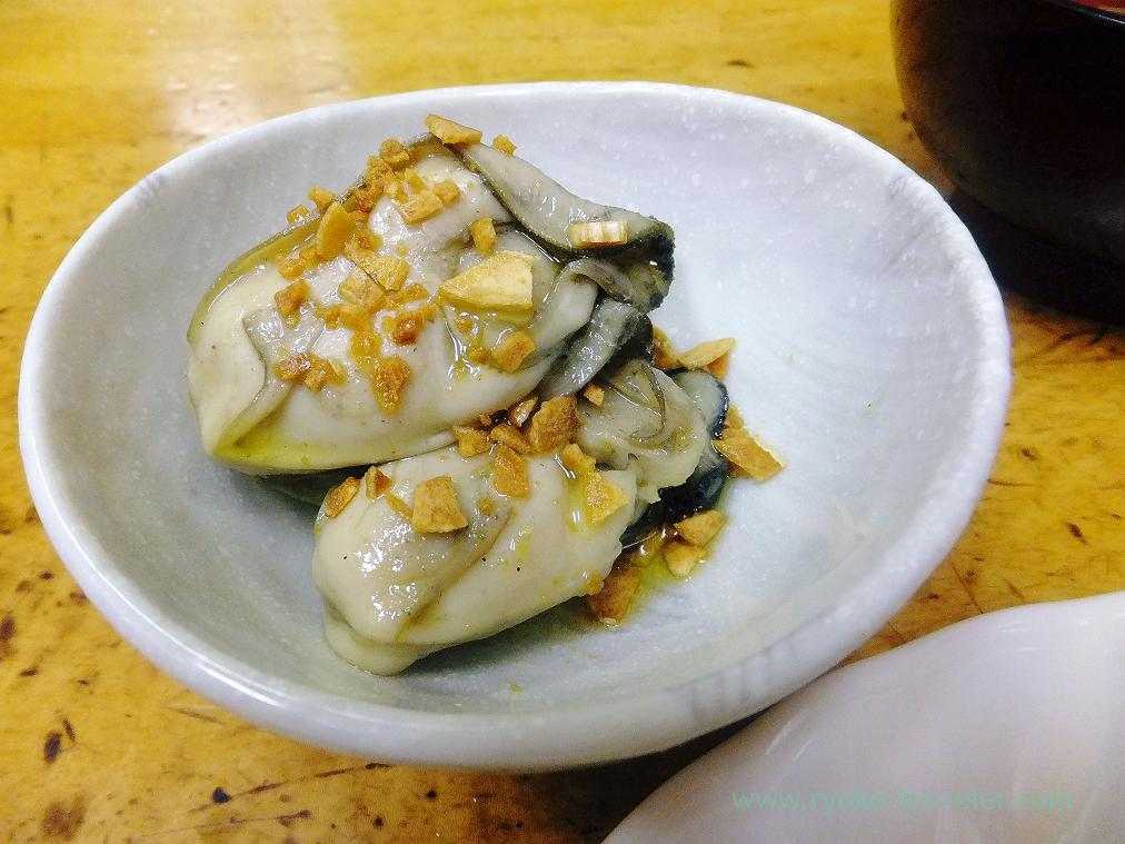 Marinated oysters with olive oil, Odayasu (Tsukiji Market)