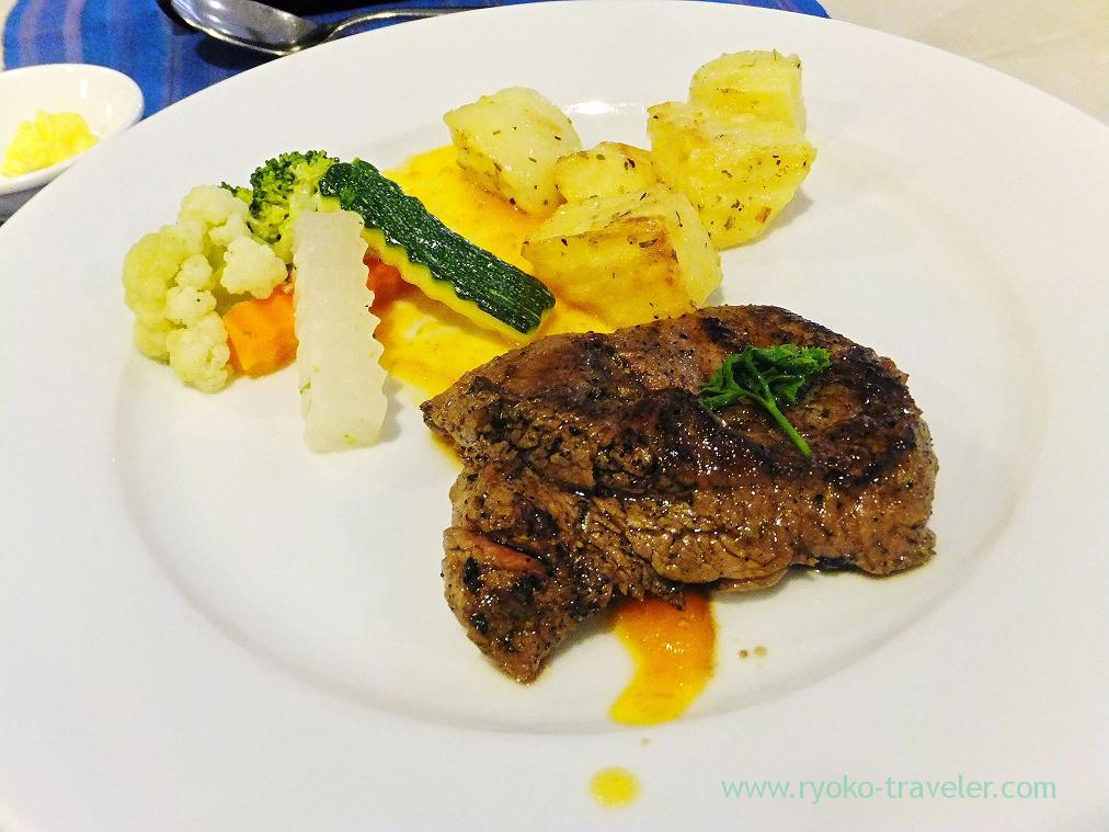 Steak as Lunch, Angkor Miracle Resort & spa(Siem Reap2014)