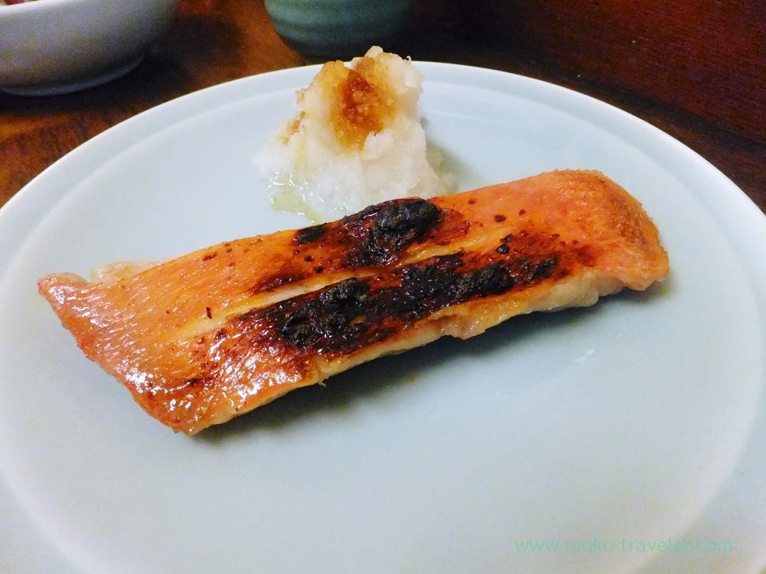 Grilled splendid alfonsino with saikyo-miso, Yonemoto Coffee Shinten (Tsukiji Market)