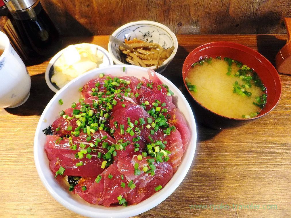 Hatsu-gatsuo bowl set, Hajime Sengyo-ten (Tsukiji)