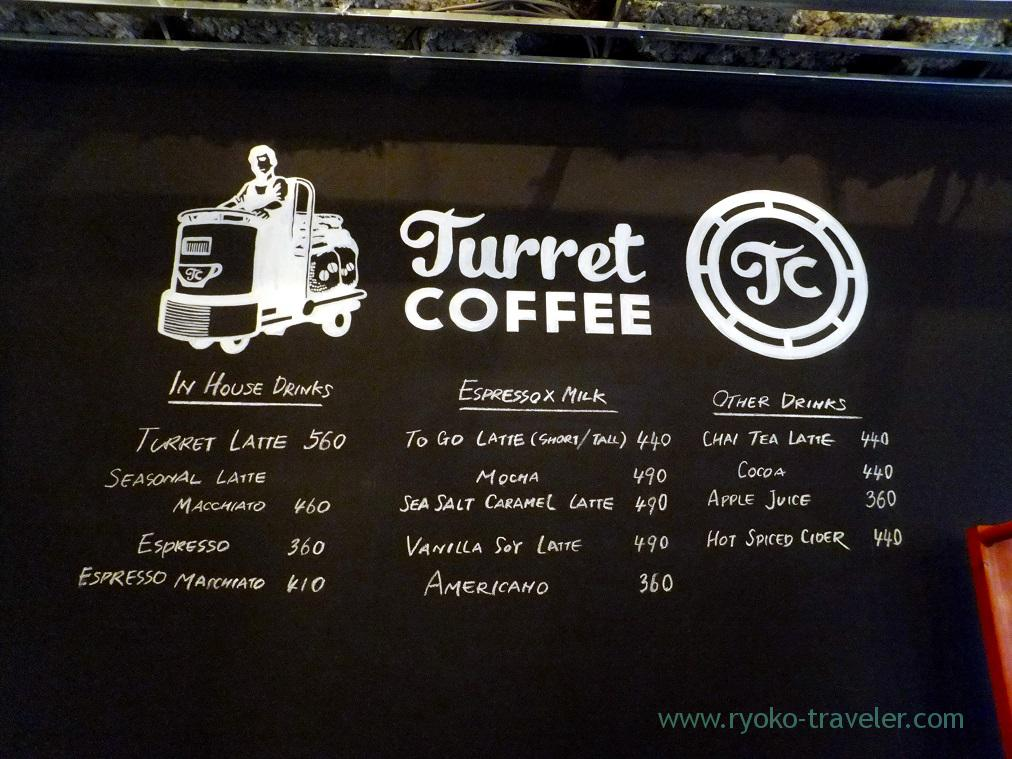 Menus, Turret Coffee(Tsukiji)