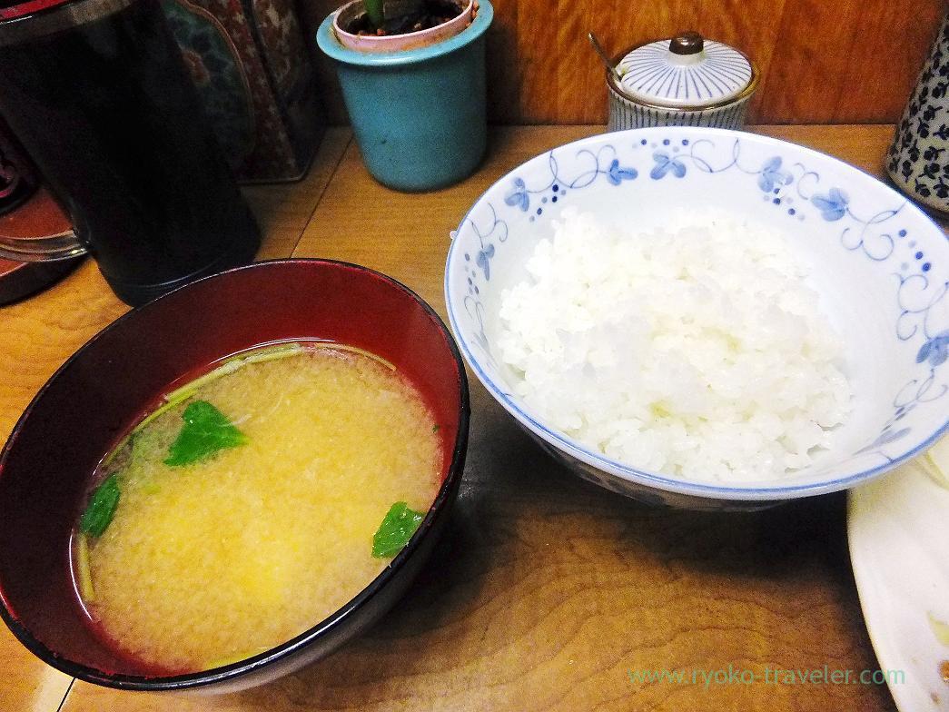 Miso soup and rice, Odayasu (Tsukiji Market)