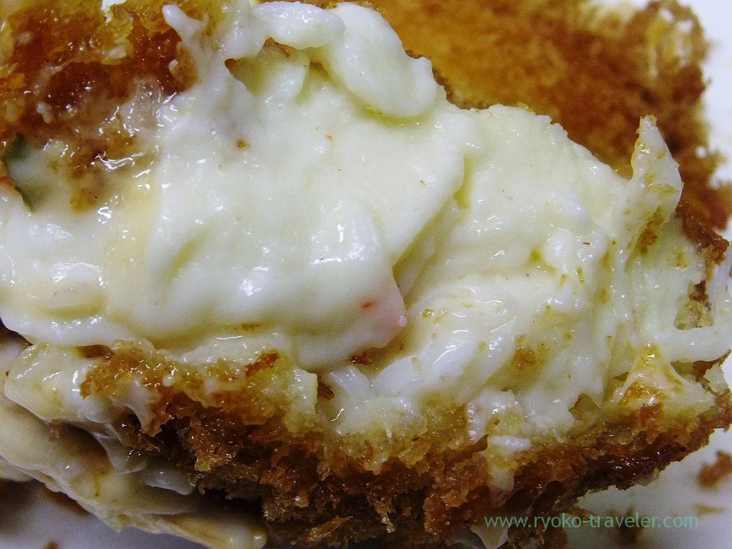 Section of crab cream croquette, Odayasu (Tsukiji Market)