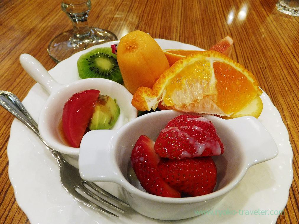 Assorted fruits, Miki Fruits Cafe (Nishi Ohashi)
