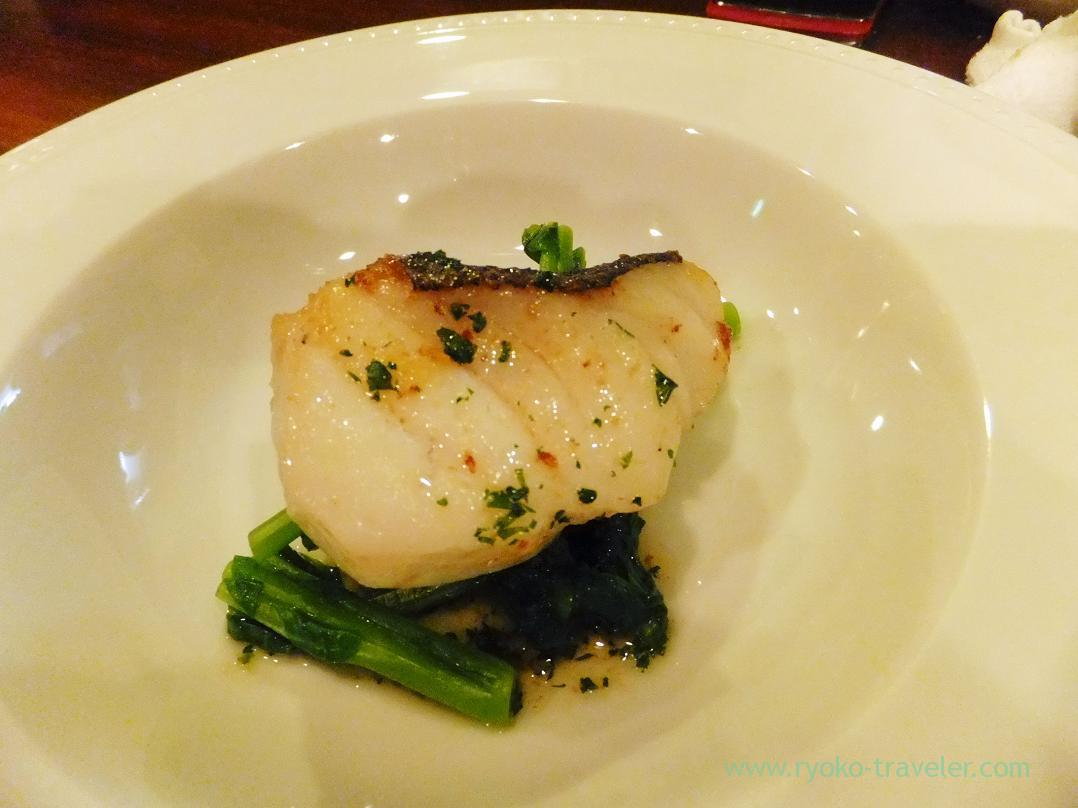 Cod from Konbumori sauté, Begin (Osaka2014-1)