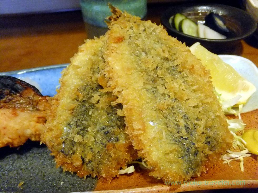 Deep fried sardine, Uogashi Sayori (Kachidoki)