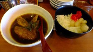 Kachidoki : Curry lunch at Tenkushi Nishioka (天串にしおか)