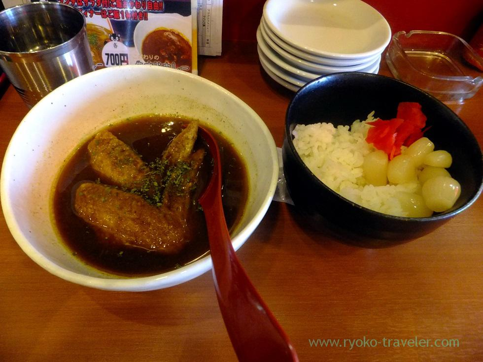 Female's chicken wing curry , Tenkushi Nishioka (Kachidoki)