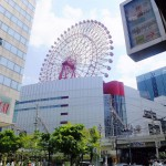 Osaka 2014 (7/15) : Red ferris wheel and some foods (梅田)
