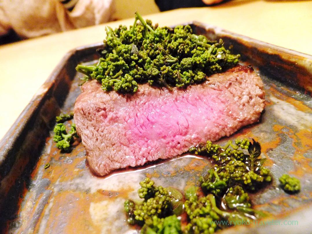 Grilled Japanese black wagyu with Flowers of Japanese pepper, Ginza Shimada (Ginza)
