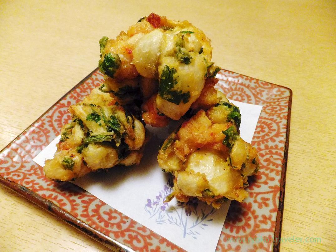 Kuruma prawn and lily root kakiage, Ginza Shimada (Ginza)