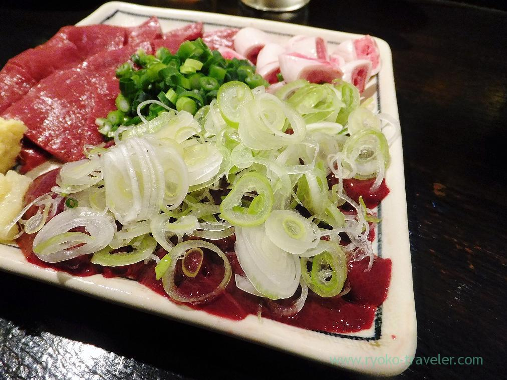 Liver side of assorted sashimi, Hyottoko (Ningyocho)