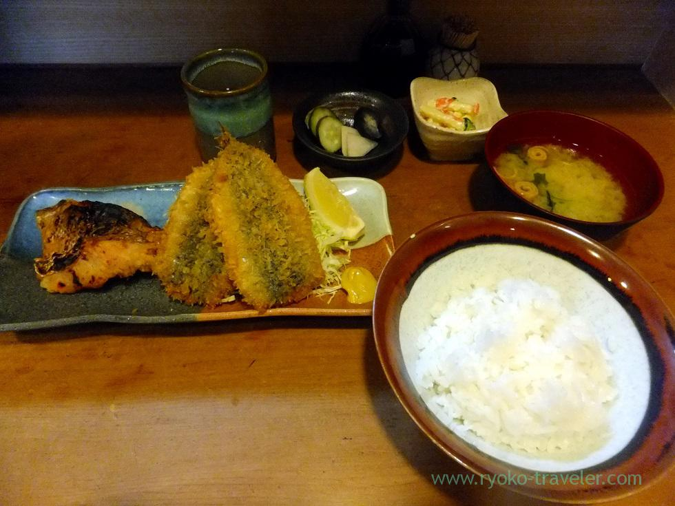 Lunch set, Uogashi Sayori (Kachidoki)