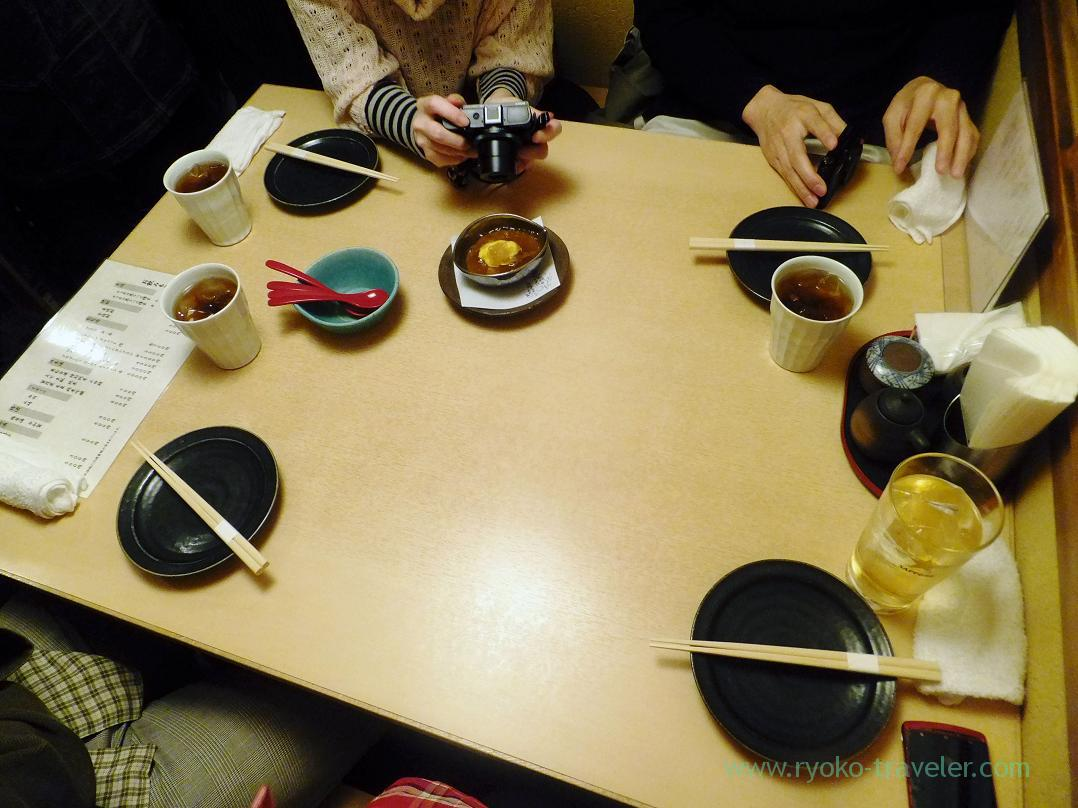 Narrow table, Ginza Shimada (Ginza)