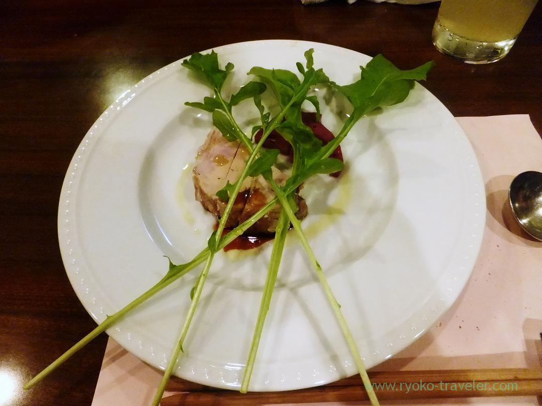 Round putty with chicken and foie gras, Begin (Osaka2014-1)