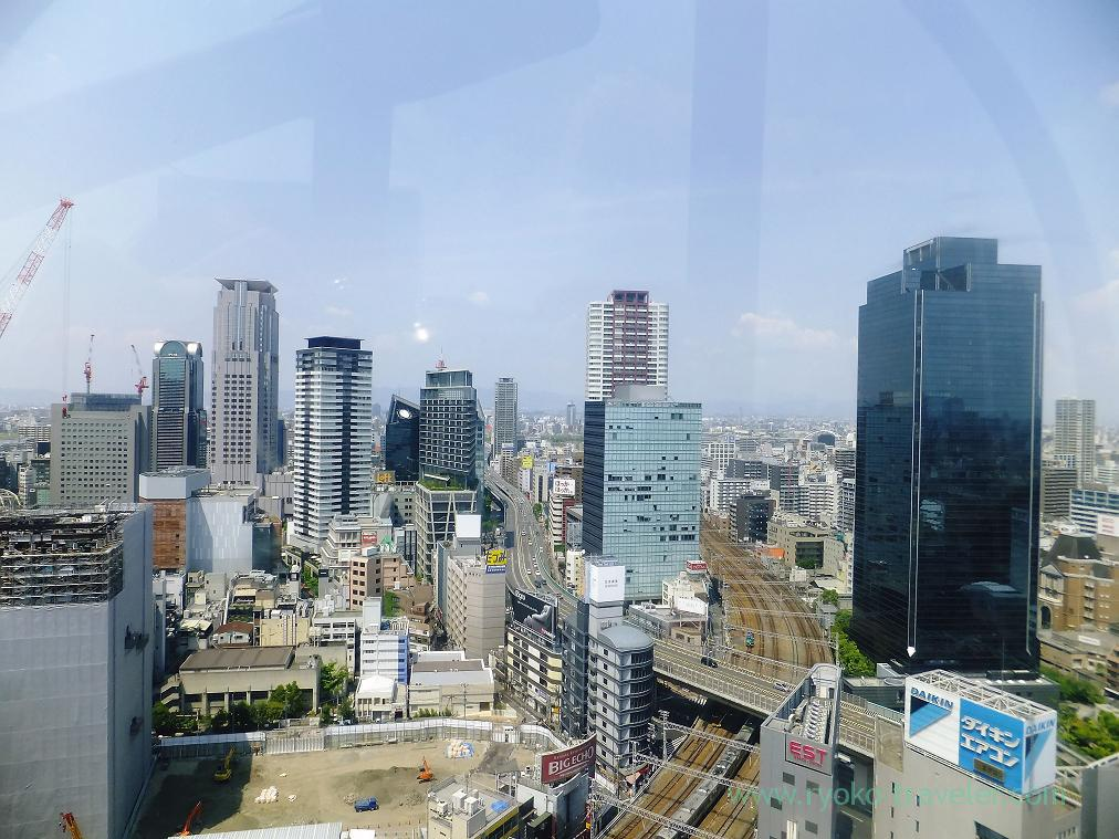 View from ferris wheel2, Red ferris wheel (Umeda)