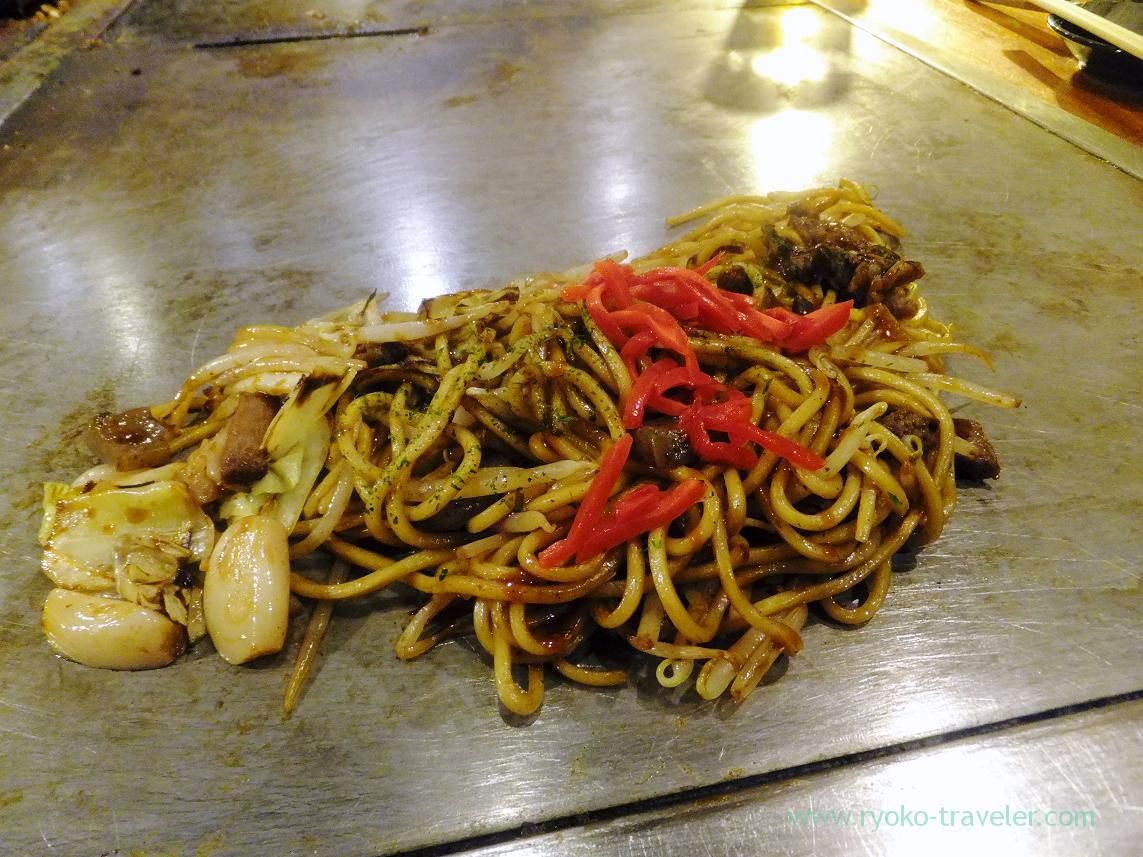 Yakisoba with tendon, Fukutaro (Osaka2014-1)