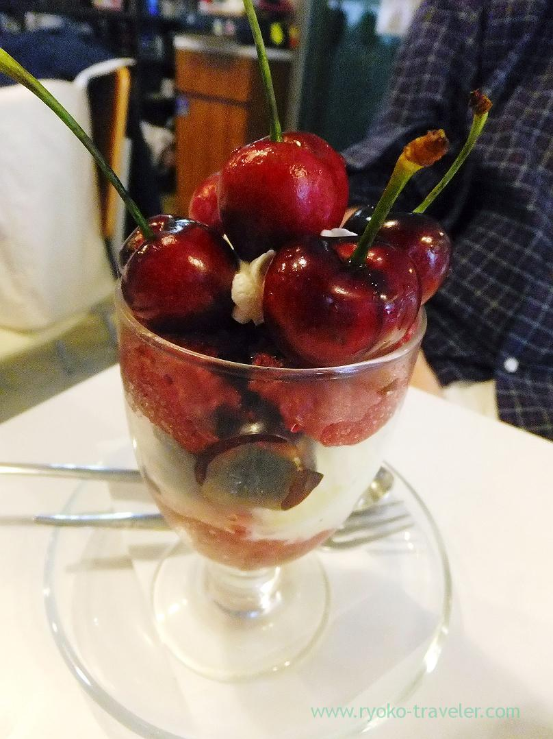 Cherry parfait, Fukunaga Fruits Parlor (Yotsuya-sanchome)